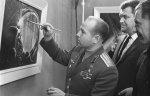 В Барнауле представили картины Алексея Леонова с видами Алтая из космоса